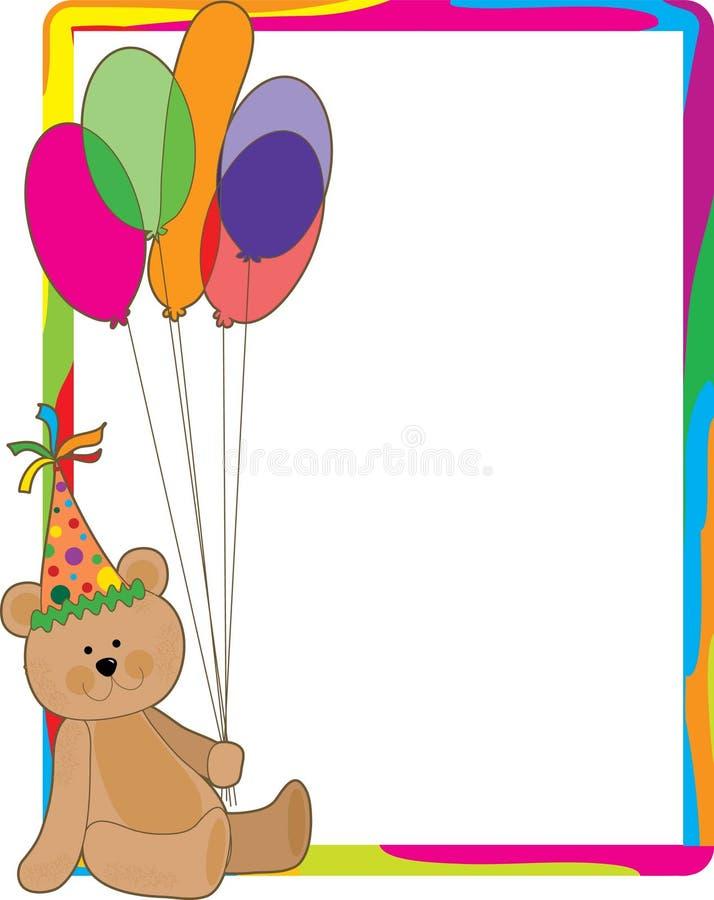 Beira do urso do aniversário ilustração royalty free