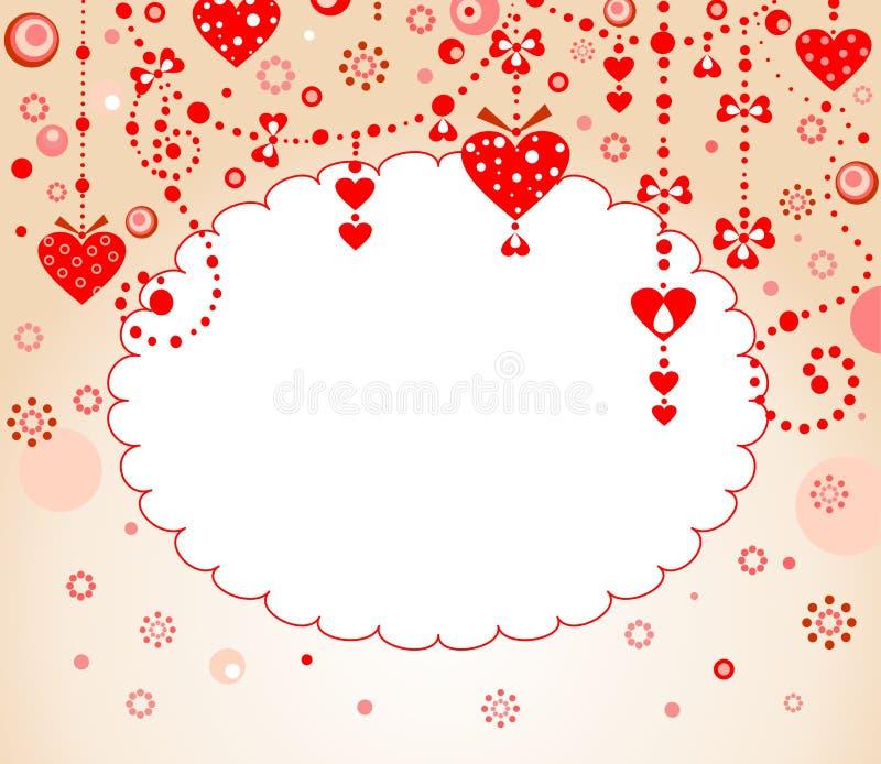 Beira do vermelho do Valentim ilustração do vetor