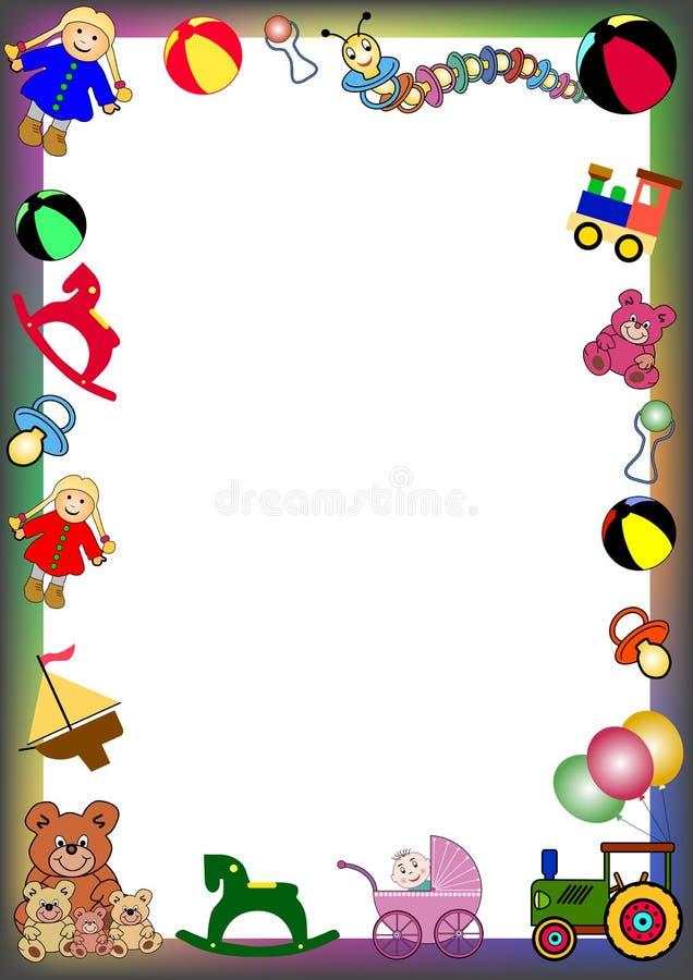 Beira dos brinquedos ilustração do vetor