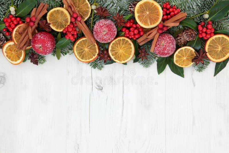 Beira dos frutos secos do Natal foto de stock royalty free