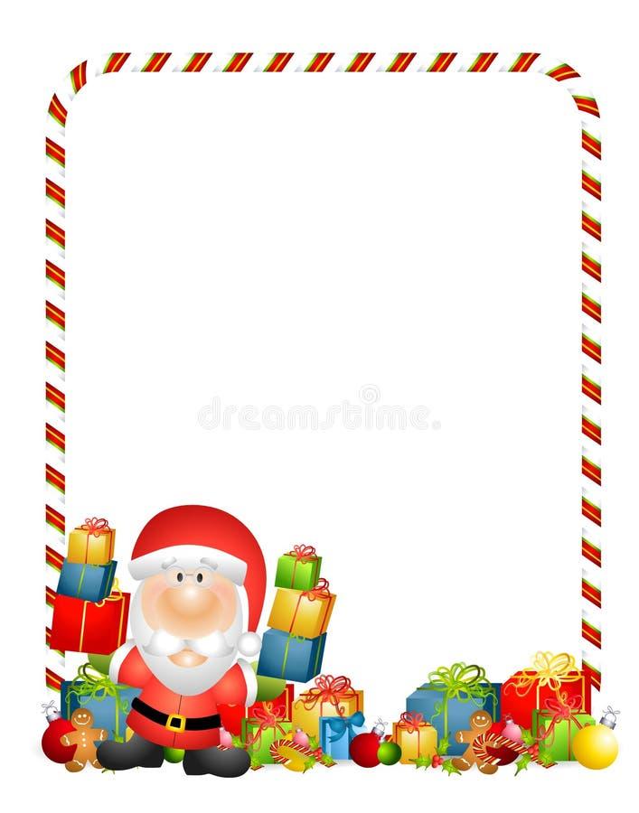 Beira dos presentes de Papai Noel ilustração stock
