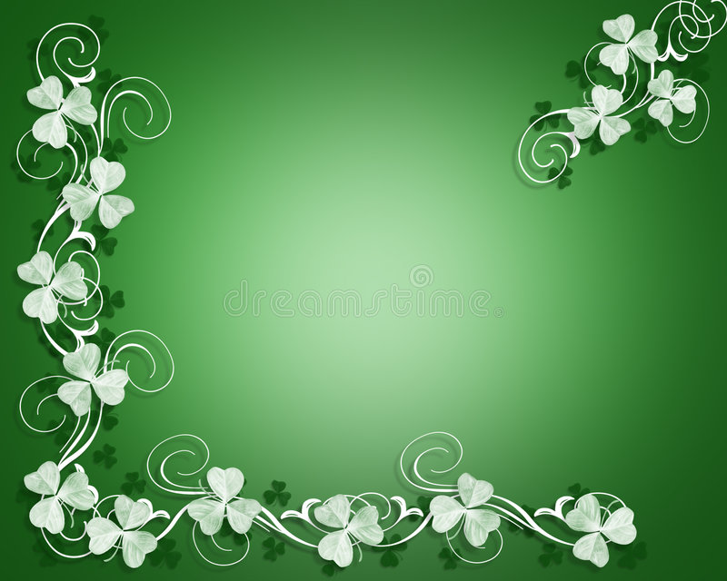 Beira dos Shamrocks do dia do St Patricks ilustração do vetor