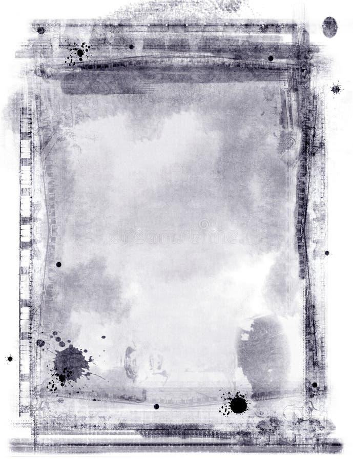 Beira e fundo de Grunge ilustração do vetor