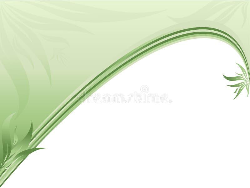 Beira ecológica abstrata com plantas ilustração do vetor