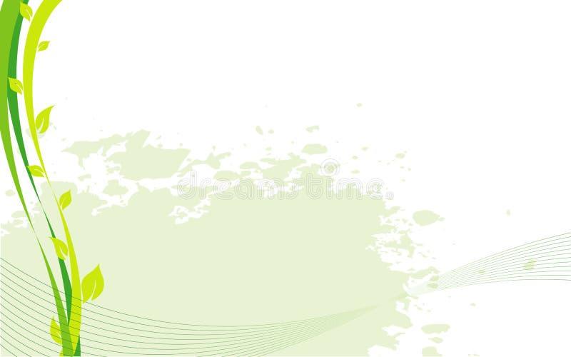 Beira ecológica do vetor abstrato com plantas ilustração royalty free
