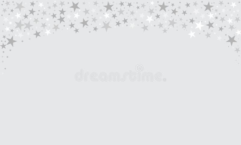 Beira efervescente do fundo das estrelas, estrelas de queda dos confetes para seu projeto com espaço vazio Ilustra??o do vetor ilustração do vetor
