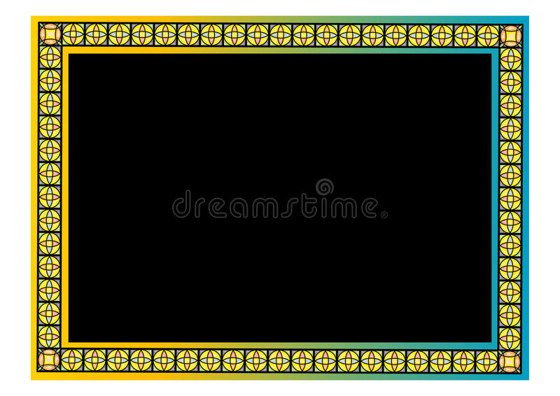 Download Beira floral ilustração do vetor. Ilustração de caixa - 10065951