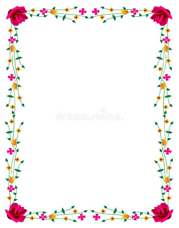 Download Beira floral ilustração do vetor. Ilustração de beira - 10065985