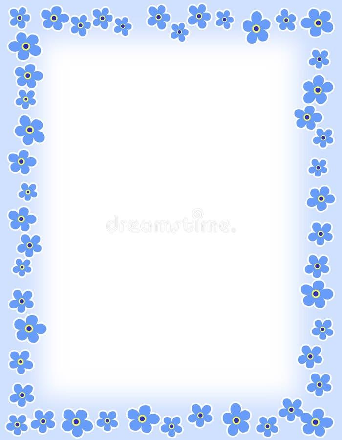 Beira floral ilustração stock
