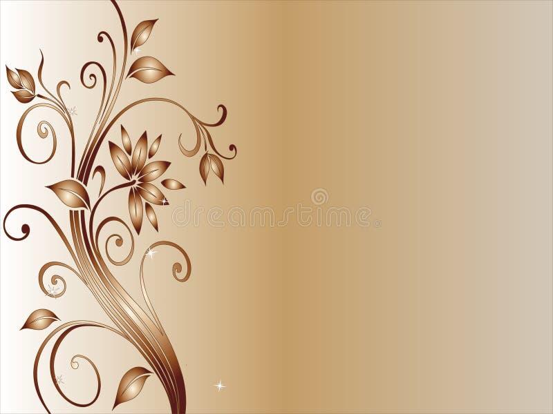 Beira floral ilustração royalty free
