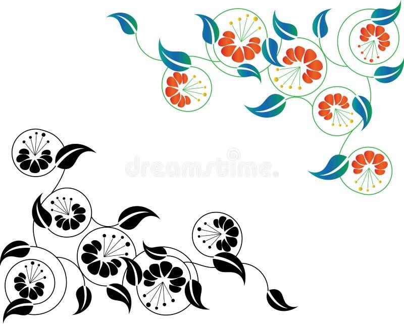 Beira floral abstrata ilustração royalty free