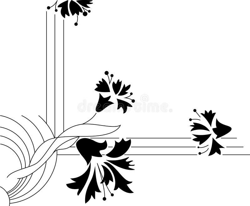 Beira floral abstrata ilustração stock