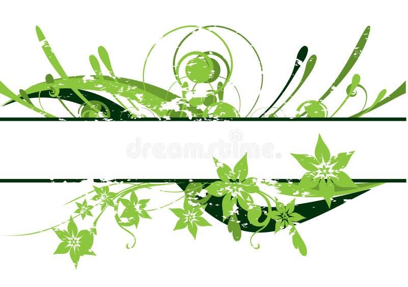 Beira floral da beleza ilustração royalty free