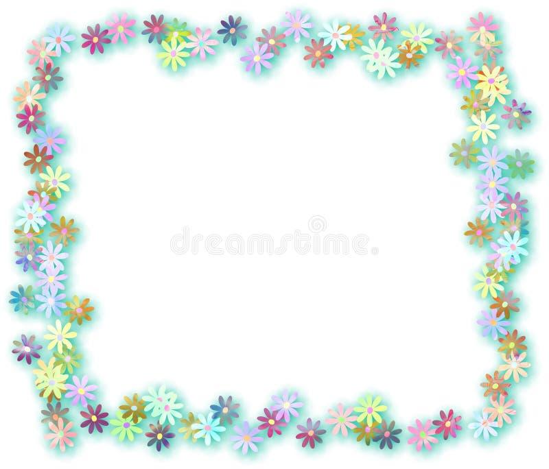 Beira floral da página ilustração do vetor