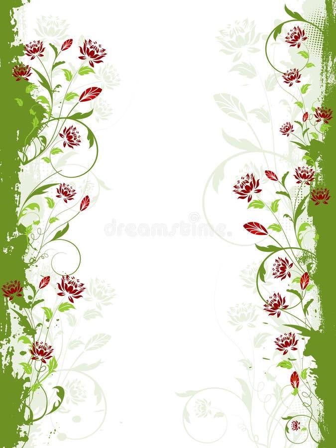 Beira floral do grunge ilustração royalty free