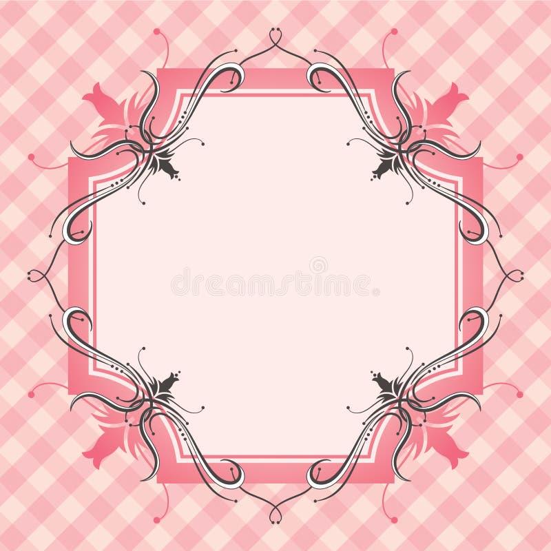 Beira floral e fundo ilustração stock