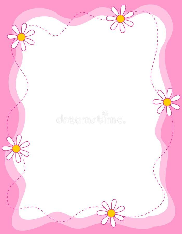 Beira floral/quadro ilustração do vetor