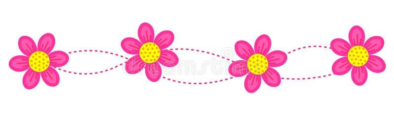 Beira floral/quadro/divisor ilustração stock