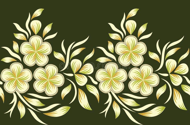 Beira floral sem emenda ilustração do vetor