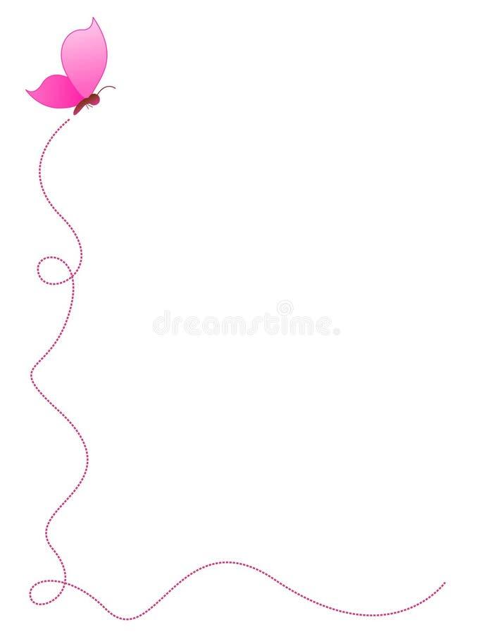 Beira/frame da borboleta ilustração royalty free