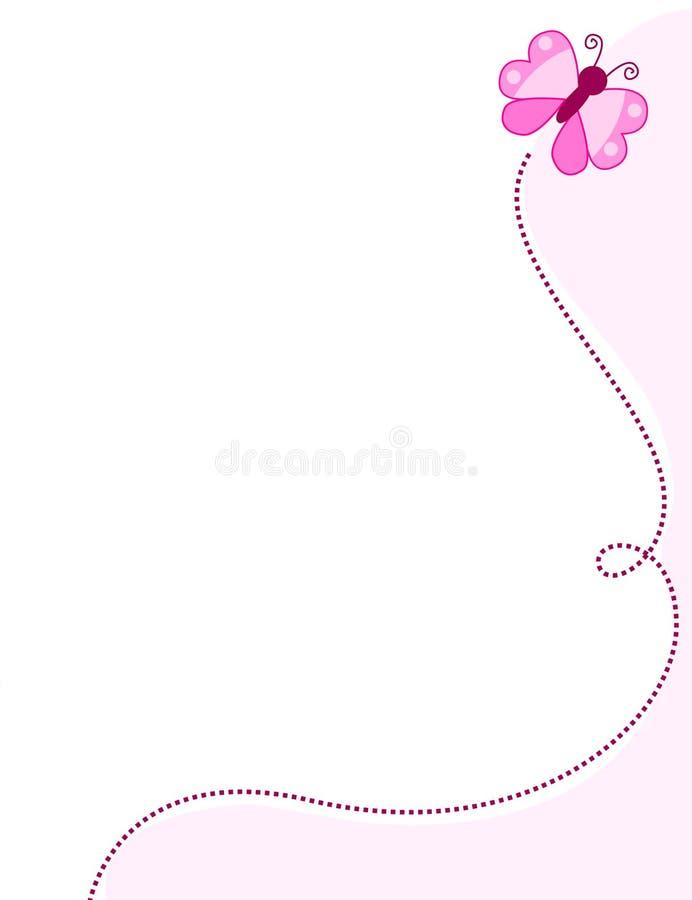 Beira/frame da borboleta ilustração stock