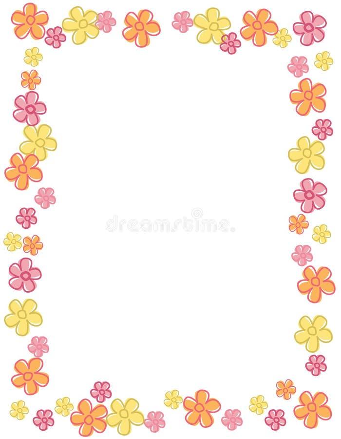 Beira/frame da flor ilustração royalty free