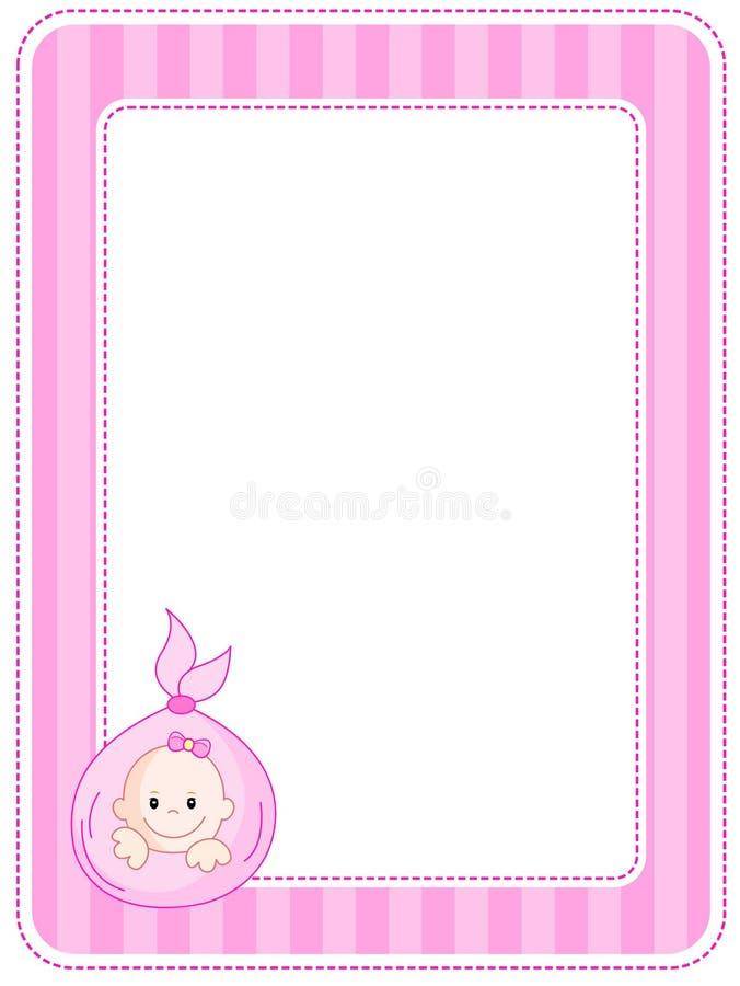 Beira/frame do bebê ilustração stock