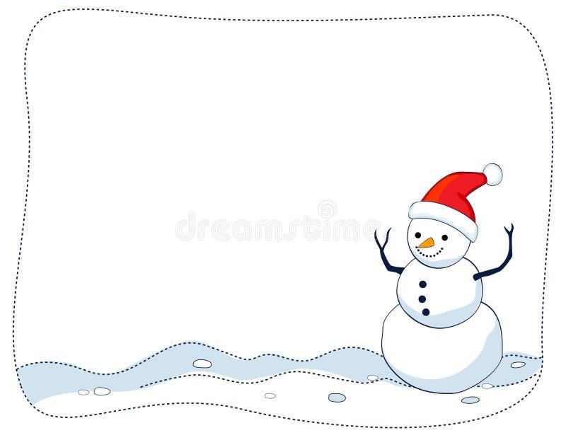 Beira/frame do boneco de neve ilustração stock