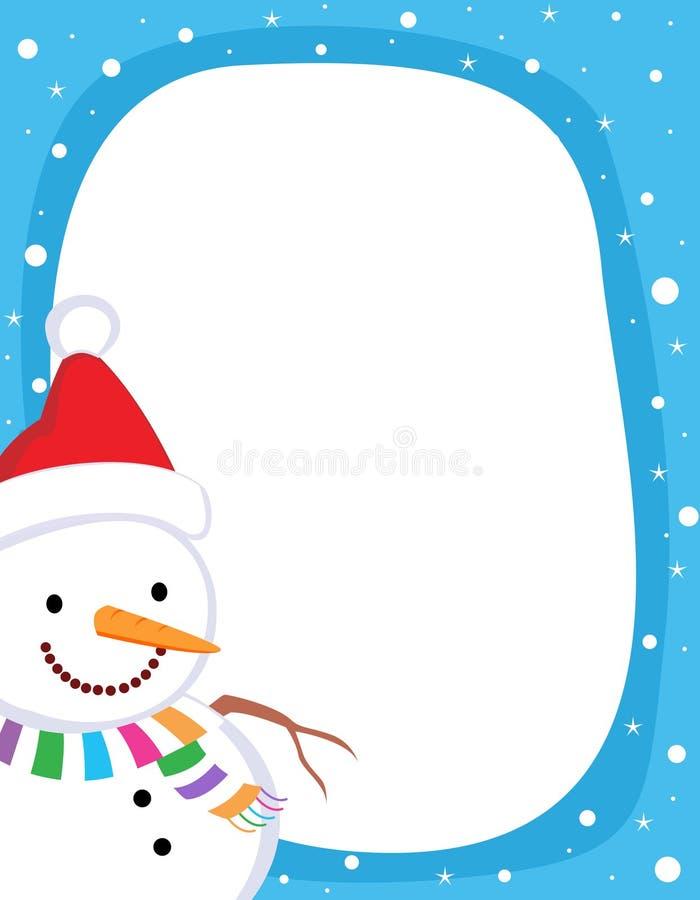 Beira/frame do boneco de neve ilustração do vetor
