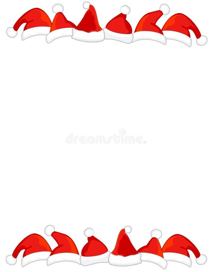 Beira/frame do chapéu de Santa ilustração do vetor