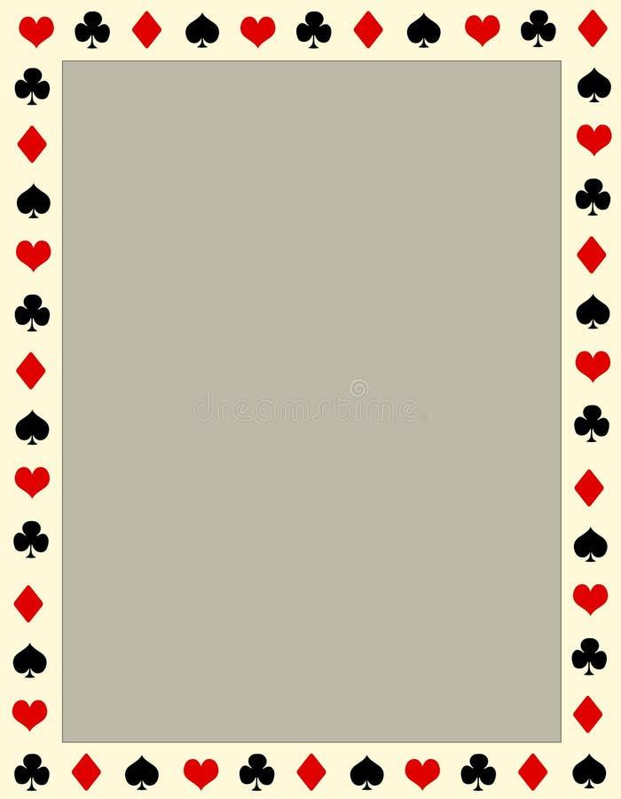 Beira/frame do póquer ilustração royalty free