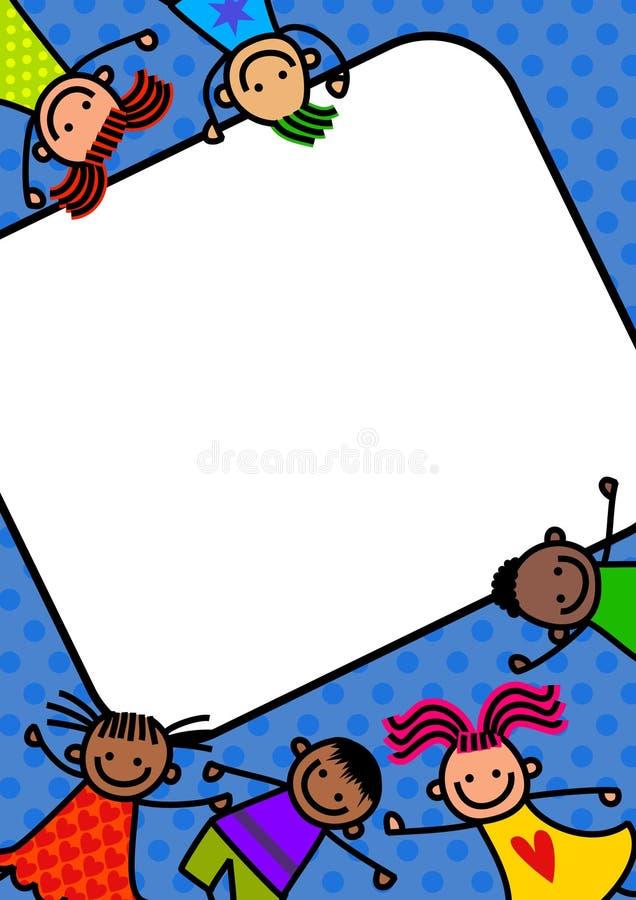 Beira funky das crianças ilustração royalty free