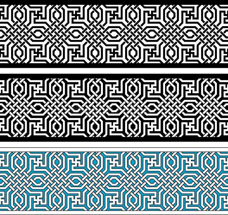 Beira geométrica ilustração stock