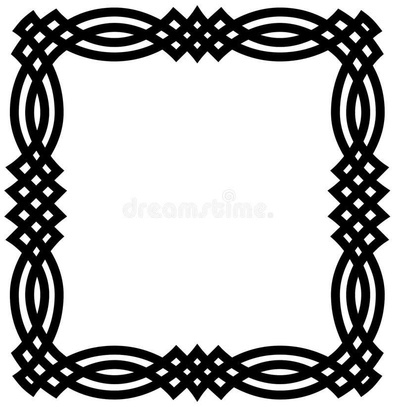 Beira geométrica celta ilustração royalty free