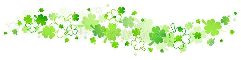 Beira horizontal do verde grande e pequeno dos trevos ilustração royalty free
