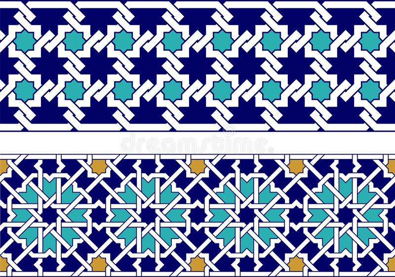 Beira islâmica ilustração stock