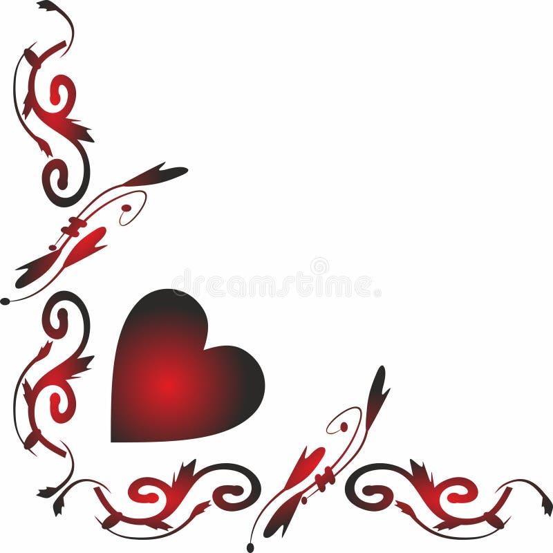 Beira lateral Valentine Icons para apps móveis do conceito e da Web ilustração do vetor