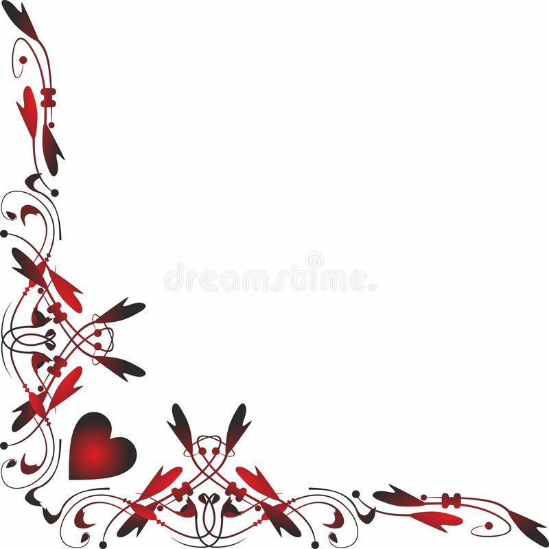 Beira lateral Valentine Icons para apps móveis do conceito e da Web ilustração royalty free