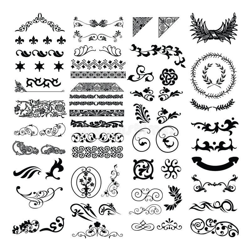 Beira malaio islâmica do design floral ilustração royalty free