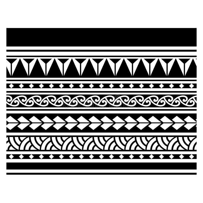 Beira maori tribal do teste padrão da tatuagem, bracelete tribal aborígene samoano do teste padrão da arte, ornamento abstrato po ilustração royalty free