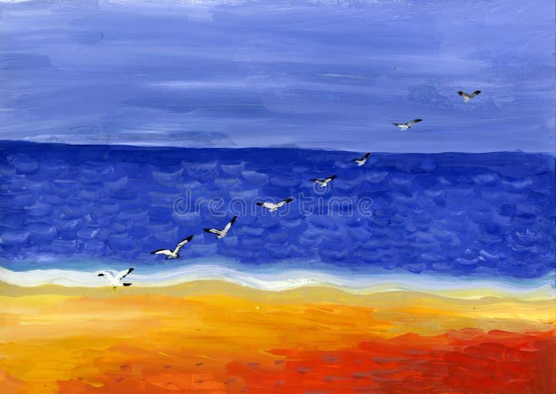 Beira-mar ilustração stock