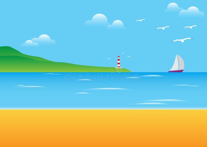 Beira-mar ilustração do vetor