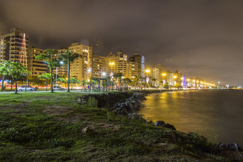 Beira Mar aleja SC - Brazylia - Florianopolis - obrazy stock