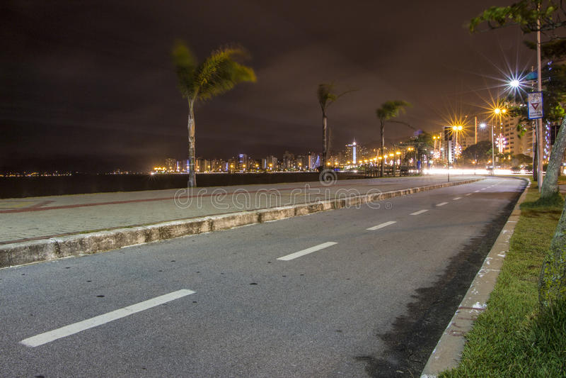 Beira Mar Avenue - Florianopolis - SC - Brazil royalty free stock images