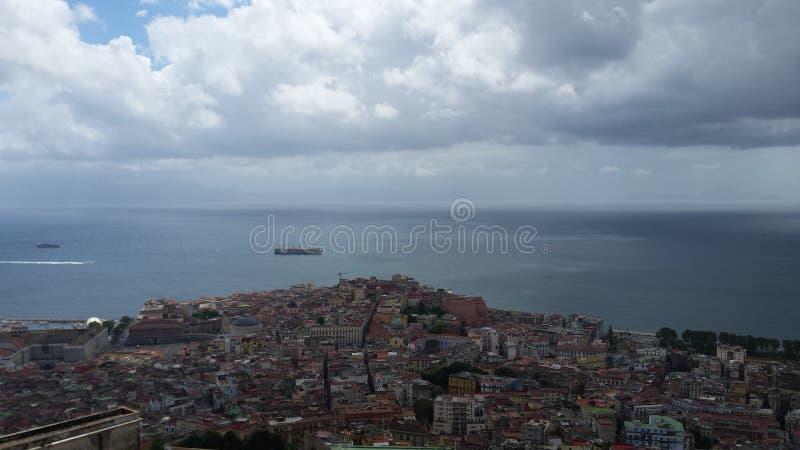 Beira-mar de Napoli fotos de stock royalty free