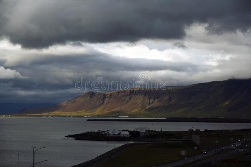 Beira-mar de Reykjavik, Islândia foto de stock