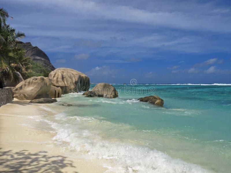 Beira-mar do console tropical fotos de stock