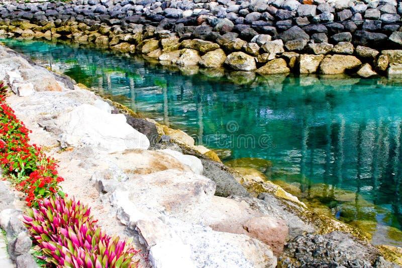 Beira-mar e as pedras fotografia de stock
