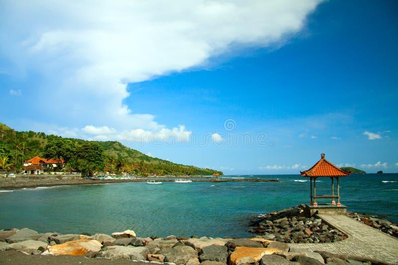 Beira-mar em Bali imagem de stock