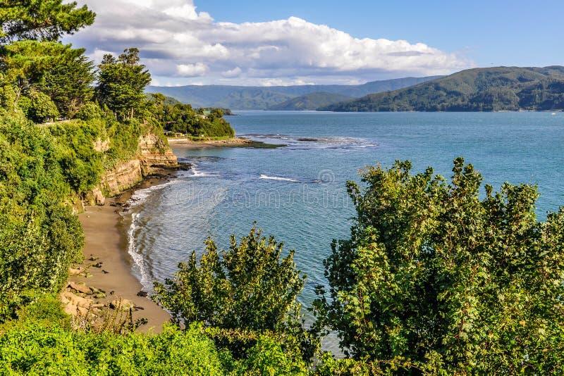 Beira-mar em Niebla, Valdivia, o Chile imagens de stock royalty free